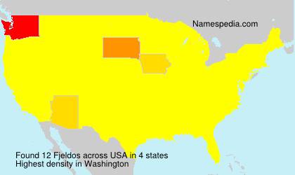 Surname Fjeldos in USA