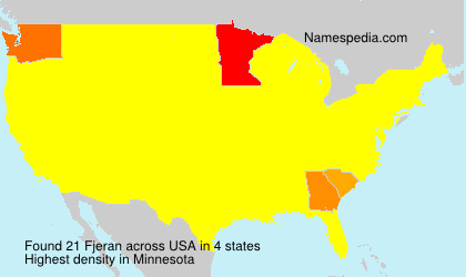 Surname Fjeran in USA