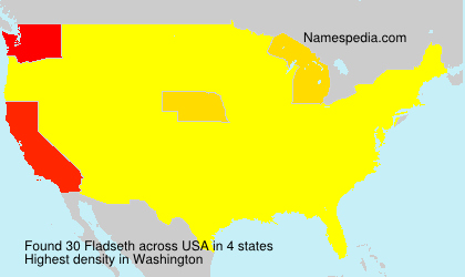 Surname Fladseth in USA