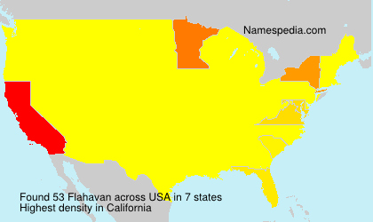 Surname Flahavan in USA