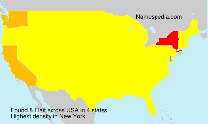 Familiennamen Flait - USA