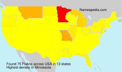 Surname Flakne in USA