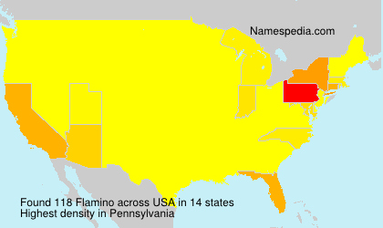 Surname Flamino in USA