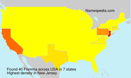 Surname Flamma in USA
