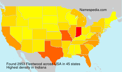 Surname Fleetwood in USA