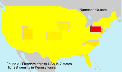Surname Flenders in USA