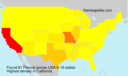 Surname Flenoid in USA