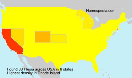 Familiennamen Flesia - USA