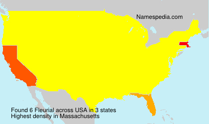 Surname Fleurial in USA