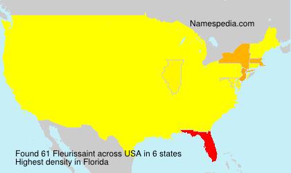 Surname Fleurissaint in USA