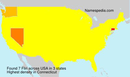 Surname Fliri in USA
