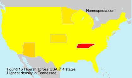 Surname Floersh in USA
