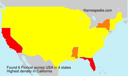 Familiennamen Floricel - USA