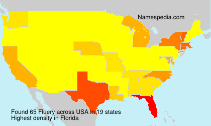 Surname Fluery in USA