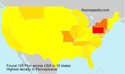 Surname Fluri in USA
