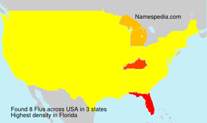 Surname Flus in USA