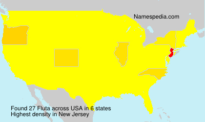 Familiennamen Fluta - USA