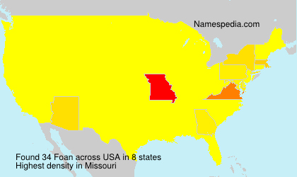 Surname Foan in USA