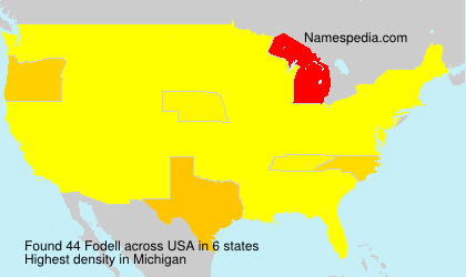 Surname Fodell in USA