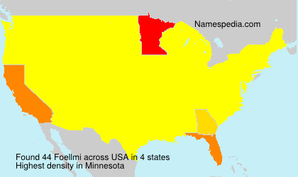 Surname Foellmi in USA