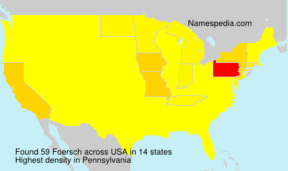 Surname Foersch in USA