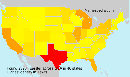 Surname Foerster in USA