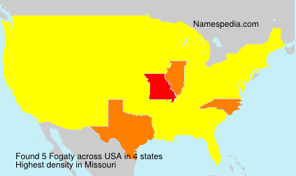 Surname Fogaty in USA