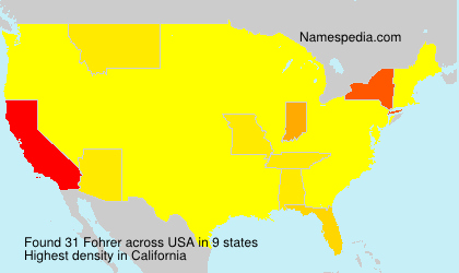 Surname Fohrer in USA