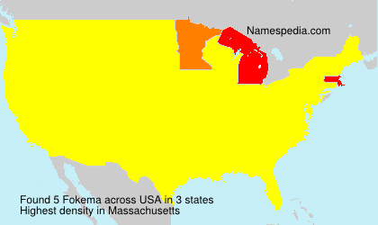 Surname Fokema in USA