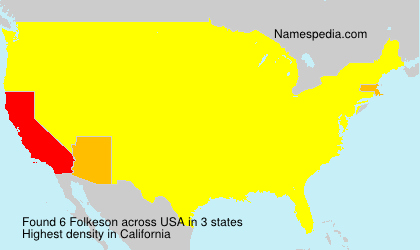 Surname Folkeson in USA
