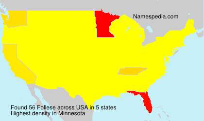 Surname Follese in USA