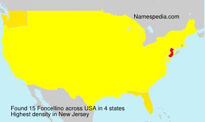 Surname Foncellino in USA