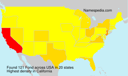 Familiennamen Fond - USA