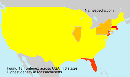 Surname Fontenez in USA