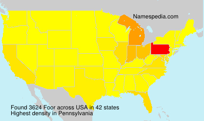Surname Foor in USA