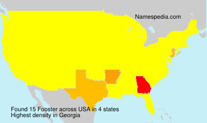 Surname Fooster in USA
