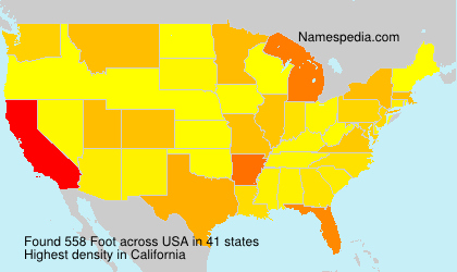 Surname Foot in USA