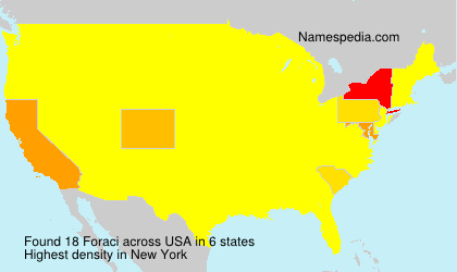 Surname Foraci in USA