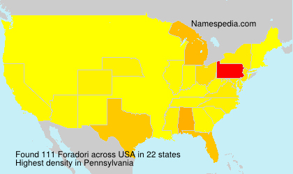 Surname Foradori in USA