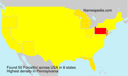 Surname Forcellini in USA