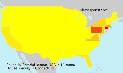 Surname Forchielli in USA