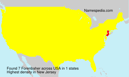 Surname Forenbaher in USA