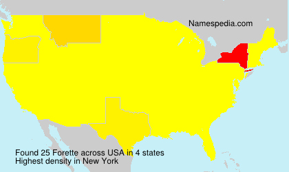 Surname Forette in USA