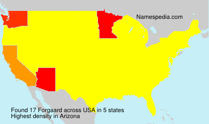Surname Forgaard in USA