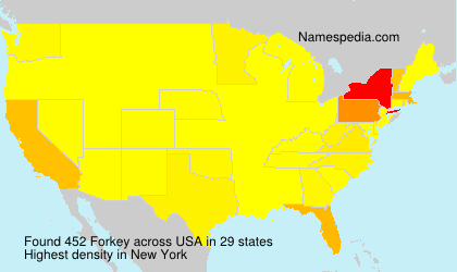 Surname Forkey in USA