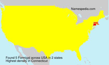 Familiennamen Formigal - USA