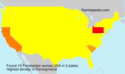 Surname Fornbacher in USA