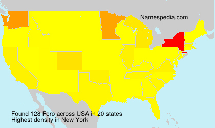 Surname Foro in USA