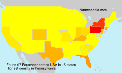 Surname Forschner in USA