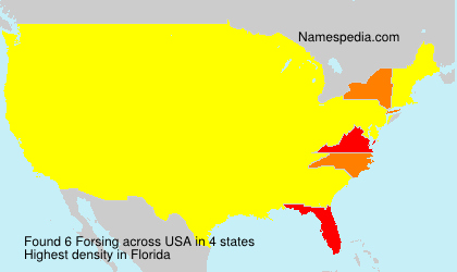 Surname Forsing in USA